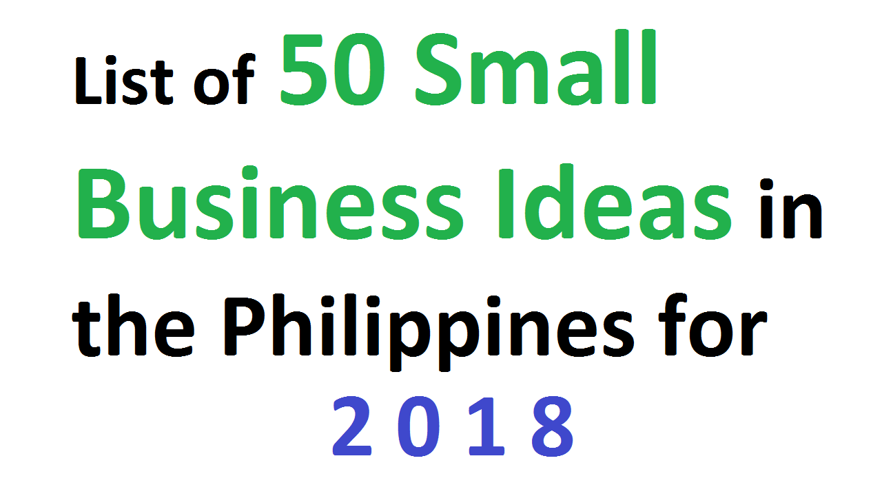 50 Small Business Ideas Philippines