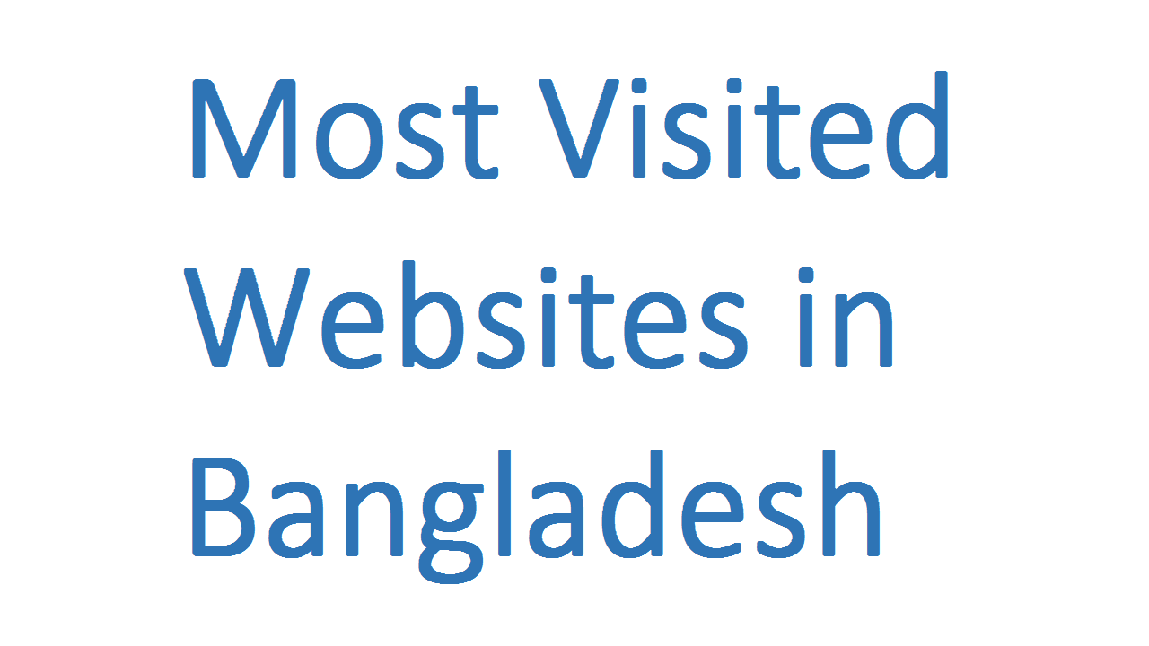 Most Visited Websites in Bangladesh
