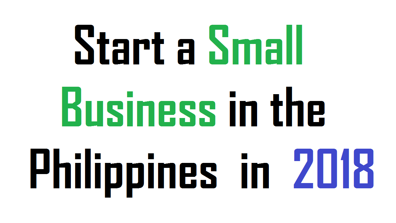 Start a Small Business in the Philippines in 2018