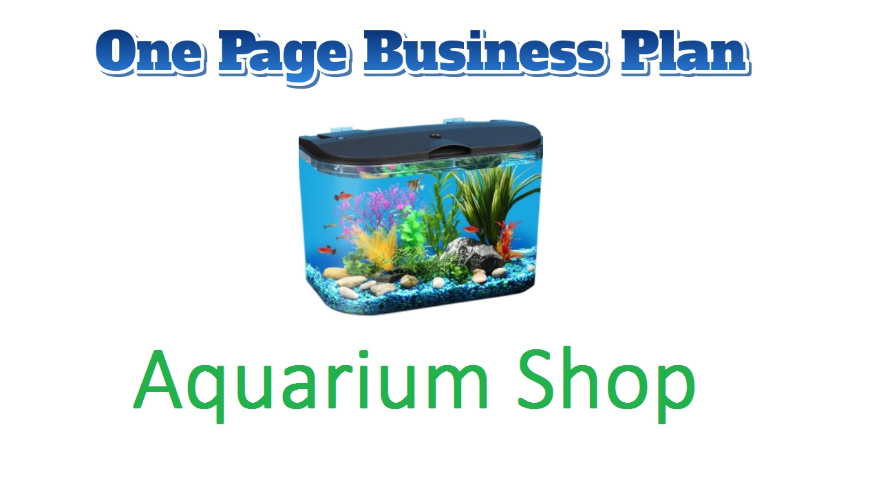Aquarium Shop business plan