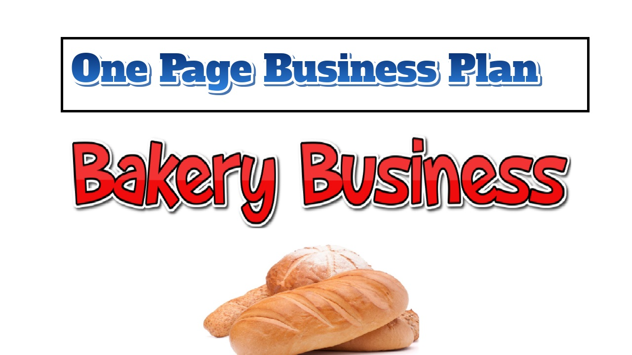 Bakery Business Plan   One Page Business Plan