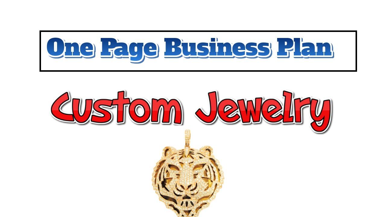 Business plan custom jewelry