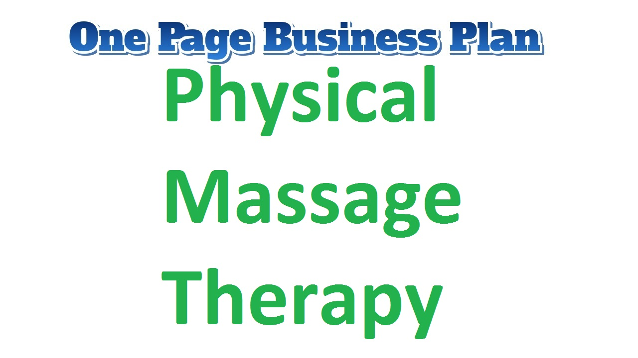Physical Massage Therapy Business Plan