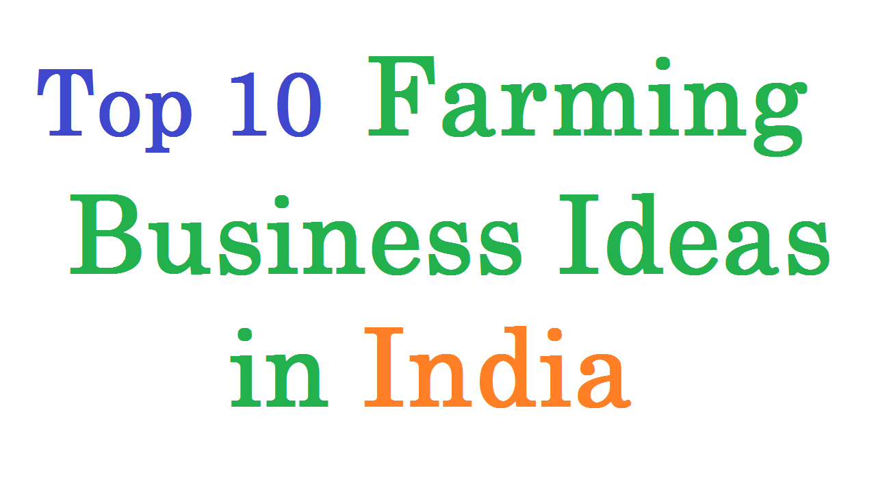 Top 10 Farming Business Ideas India Based