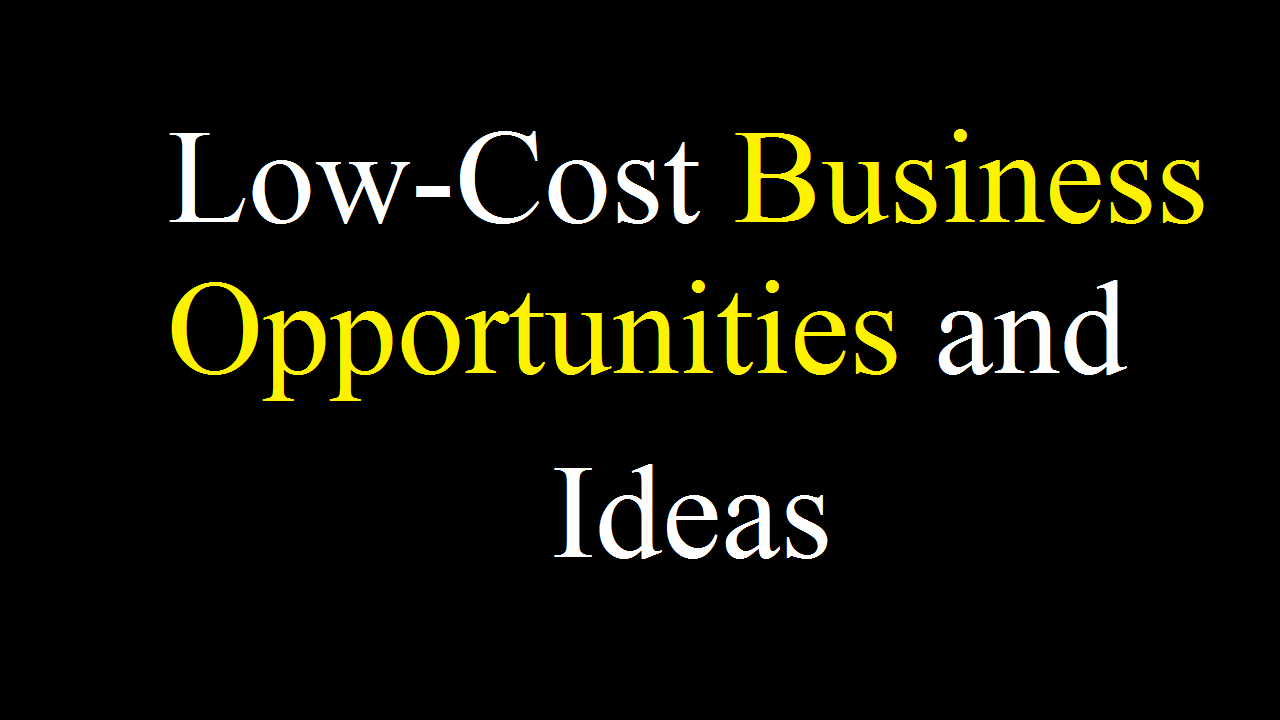 UK Based Low-Cost Business Opportunities and Ideas