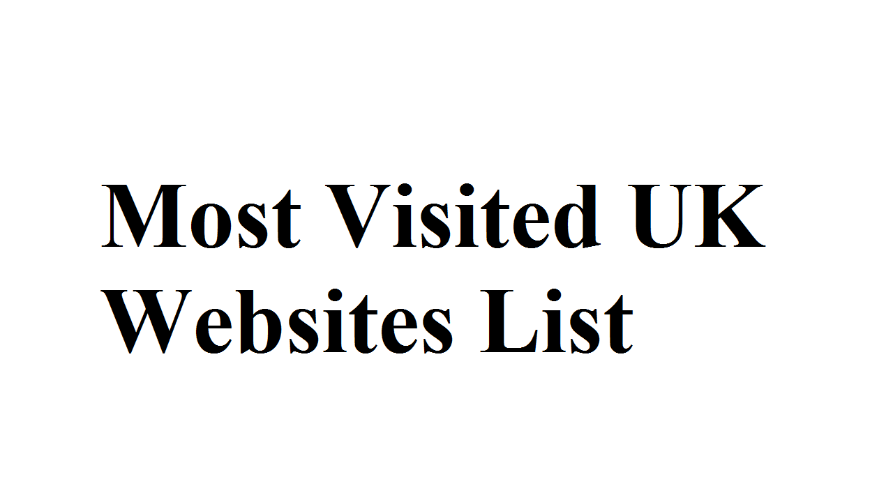 Most Visited UK Websites List