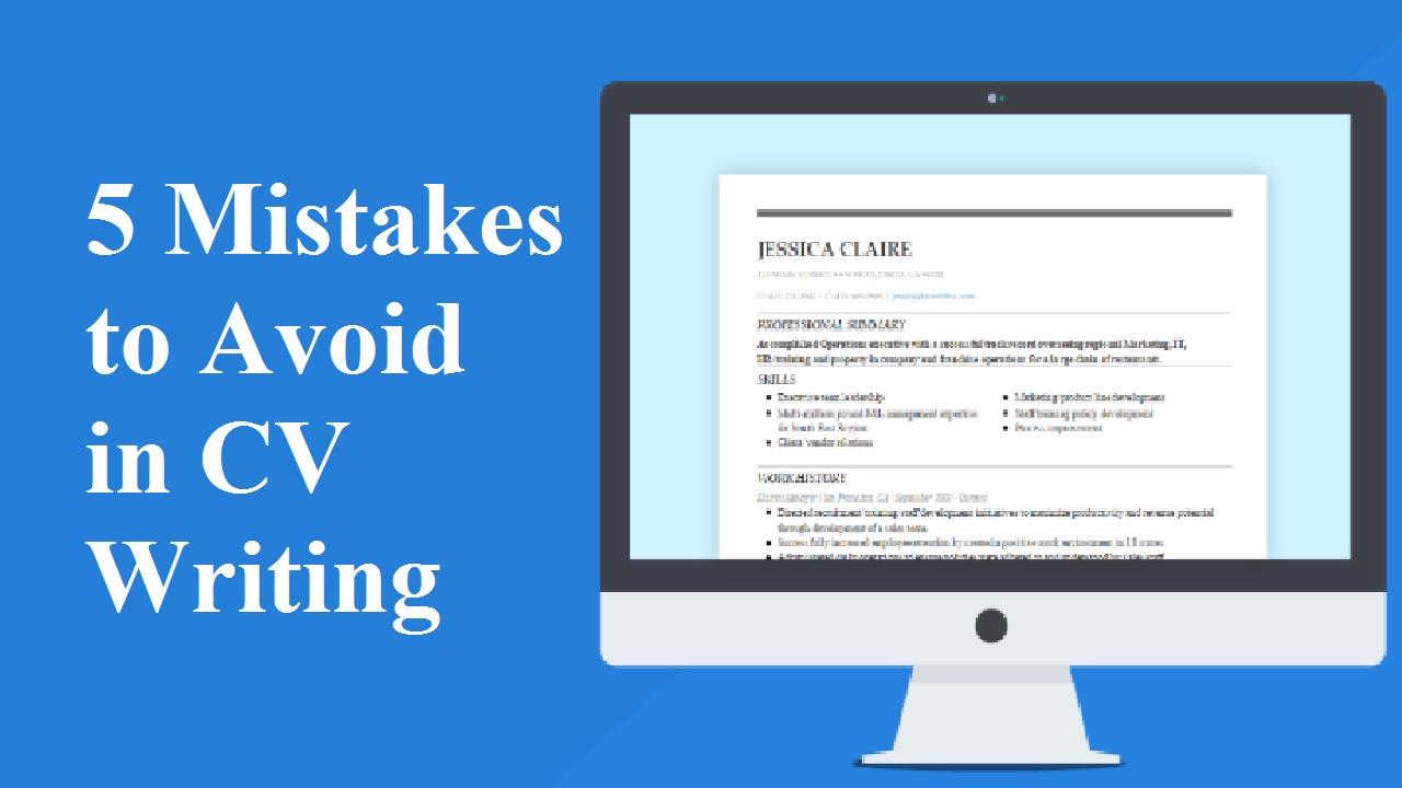 5 Mistakes to Avoid in CV Writing