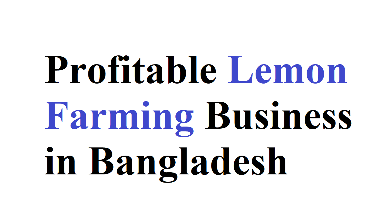 Profitable Lemon Farming Business in Bangladesh