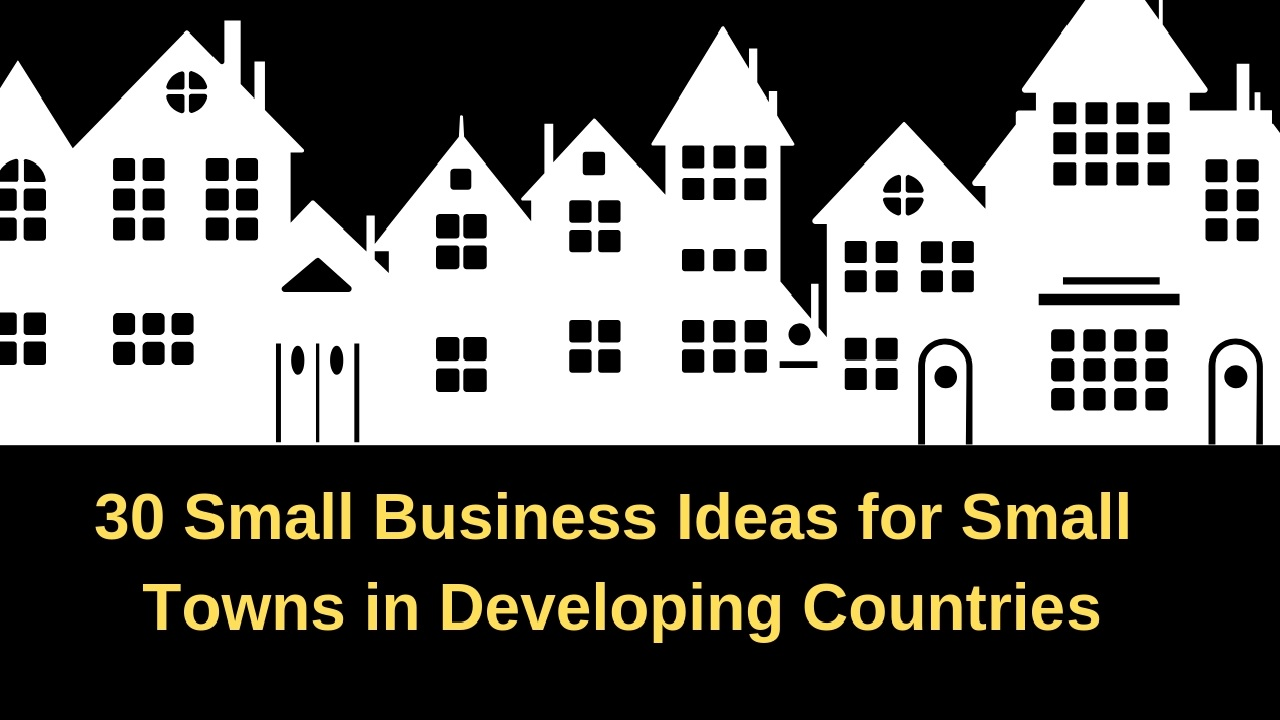 30 Small Business Ideas For Towns In Developing
