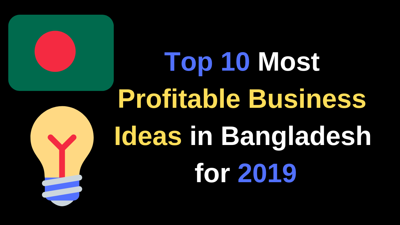 Top 10 Most Profitable Business Ideas in Bangladesh for 2019